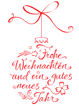 """Weihnachtskugel mit Text """"Frohe Weihnachten und ein gutes neues Jahr"""""""