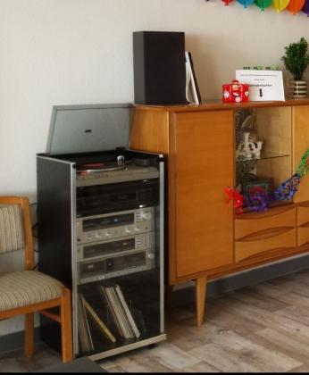 Stereoanlage im Raum