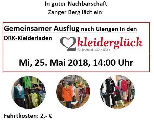 Ausflug zum DRK-Kleiderladen Kleiderglück in Giengen