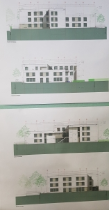 Bauplan des Neubaus